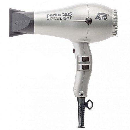 Secador Parlux 385 PowerLight - Ionic & Ceramic Prata 110v