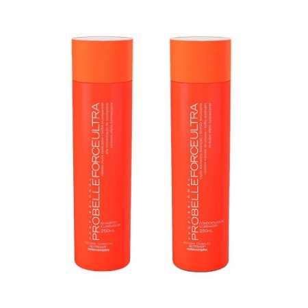 Kit Force ultra Profissional Probelle Shampoo e Cond 250ml