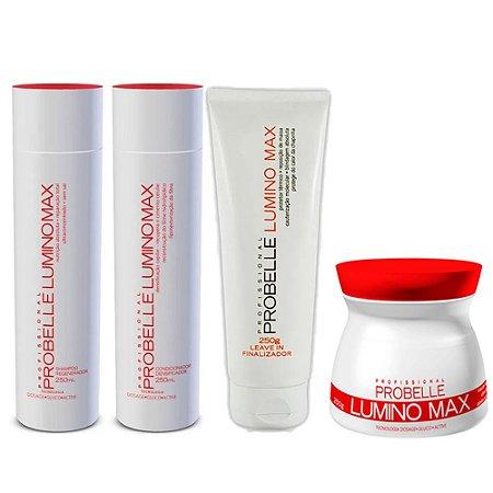 Kit Lumino Max Probelle 4 produtos (sh+cond+ leave in +masc)