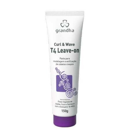 Curl & Wave Vector Force T4 Leave-On 150g Cabelos Crespos - Grandha