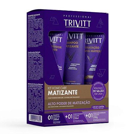 Kit Itallian Trivitt Matizante Shampoo+Condicionador+Másc.