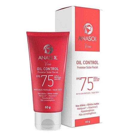 Viso Oil Control FPS 75 Protetor Solar Facial Toque Seco 60g - Anasol