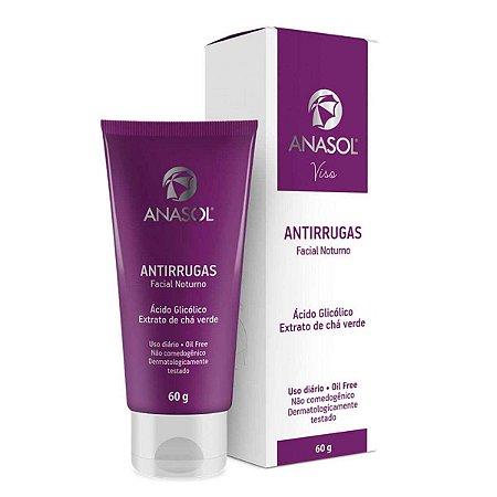 Viso Antirrugas Creme Anti-idade Facial Noturno 60g - Anasol