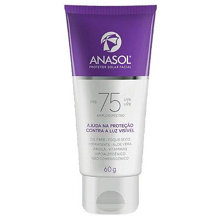Protetor Solar Facial FPS 75 Dahuer Oil Free 60g - Anasol