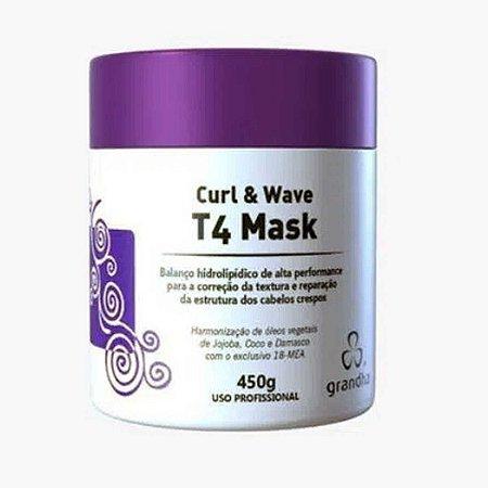 Curl & Wave T4 Mask 450g Hidrolipídico Cabelo Crespos - Grandha