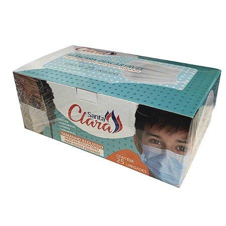 Caixa de Máscara Cirúrgica Tripla Descartável c/ 25un - Santa Clara