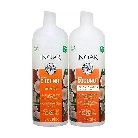 Kit Bombar Coconut Shampoo e Condicionador Vegano 1l - Inoar