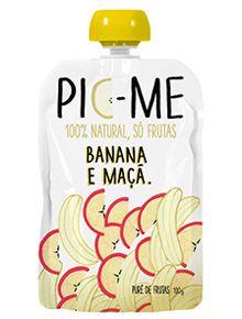 Purê de Frutas Banana Maçã Pic-Me 100g