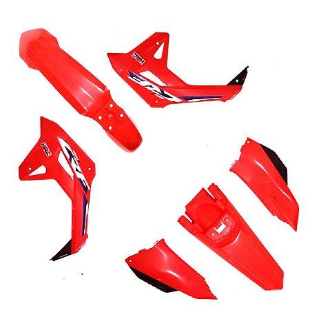 Kit Plastico Crf250f F21 Vermelho Sólido Amx