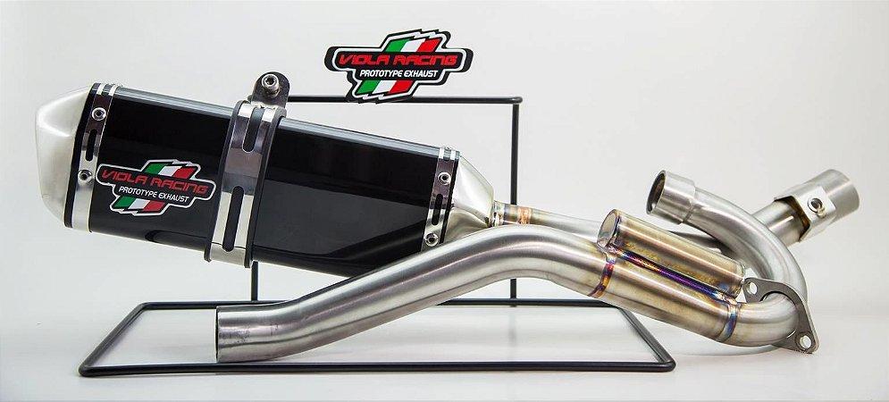 Ponteira+curva De Escape Viola Racing Xr250 Tornado Ms1/mx