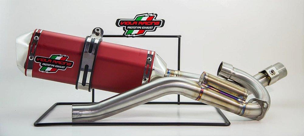 Ponteira+curva De Escape Viola Racing Crf 150f Ms1/mx