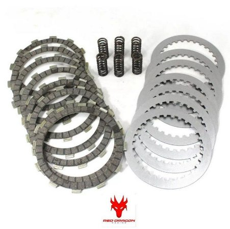 KIT DISCOS DE EMBREAGEM (DISCOS\SEPARADORES\MOLAS) KTM SX250 2004 A 2012 EXC250 2004 A 2012 EXC300 2000 A 2012 RED DRAGON RED DRAGON