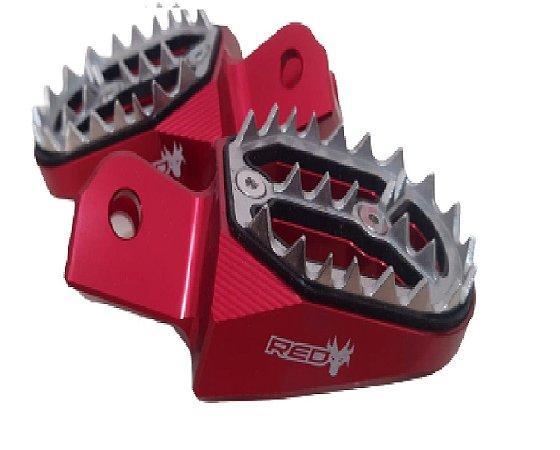 Pedaleira Alumínio CRF230 CRF250F XR250 TORNADO Red Dragon