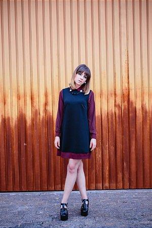 Vestido Sixtie Manga Longa
