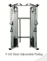 Dual Adjustable Puley 2x225lb - Wellness