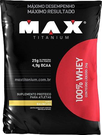 WHEY 100% MAX 2KG BAUNILHA