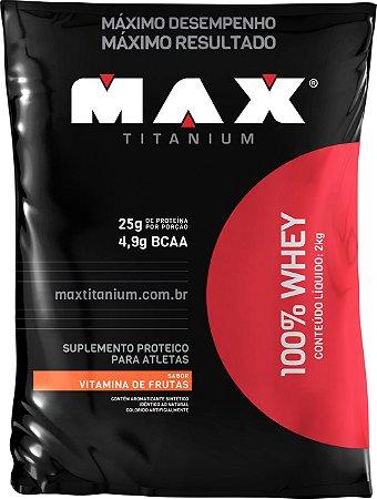 WHEY 100% MAX 2KG VIT. DE FRUTAS