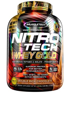 NITRO TECH 100% WHEY GOLD 5.53LBS DUPLO CHOCOLATE