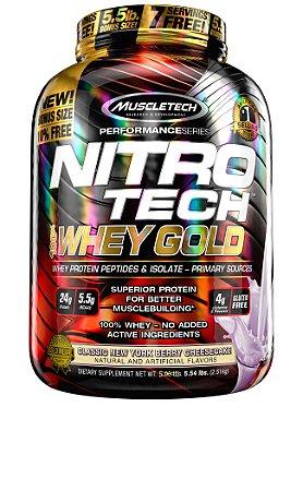 NITRO TECH 100% WHEY GOLD 5.54LBS CHEESECAKE FRUTAS VERMELHAS