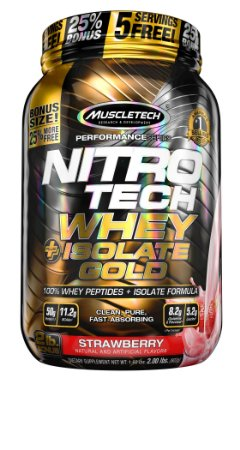 NITRO TECH WHEY ISOLATE GOLD 2LBS MORANGO