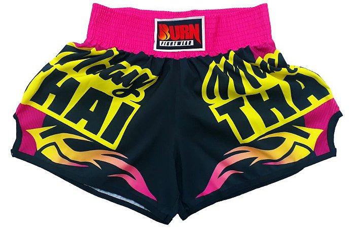 Short Muay Thai Rosa