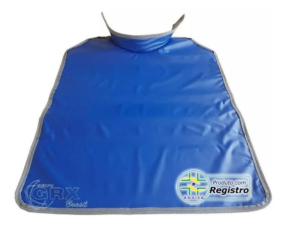 Avental Plumbífero Odonto 77x60cm Tireóide Azul Escuro 0,25mmPb