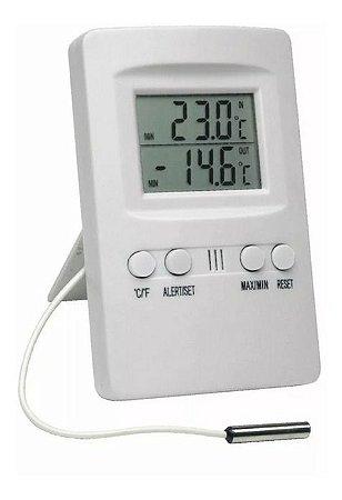 Termômetro Ambiente Refrigeração Geladeiras Alarme Externo