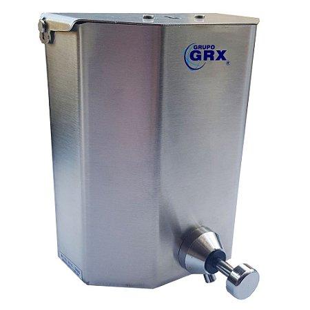 Dispenser Saboneteira s/ Visor Sabão Álcool Gel Inox 1L GRX