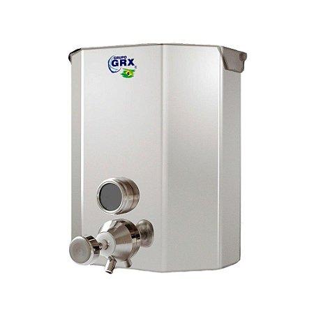 Dispenser Saboneteira com Visor Sabão Líquido Inox 2L GRX