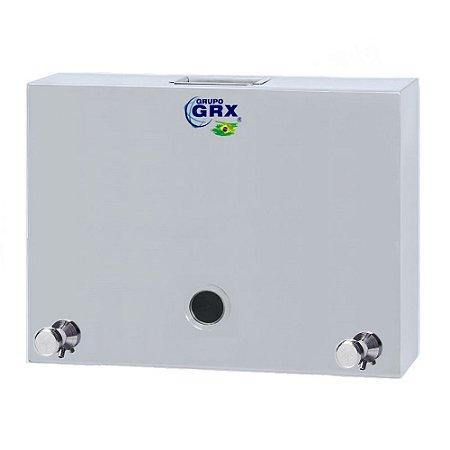 Dispenser Saboneteira com Visor Sabão Líquido Inox 15L GRX