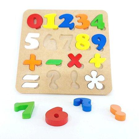 Brinquedo Educativo Números