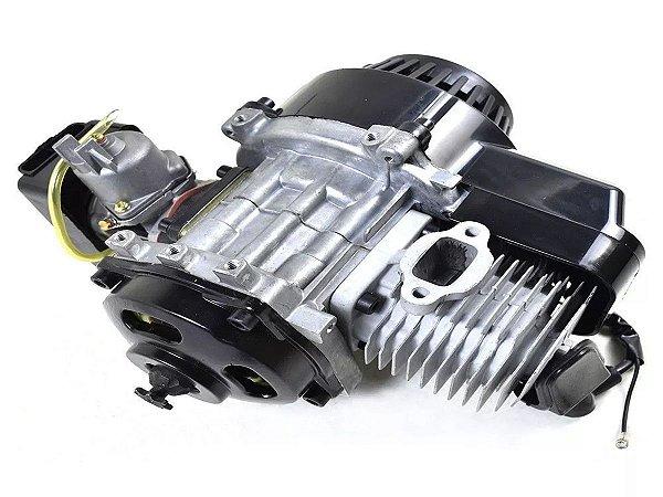 MOTOR COMPLETO PARA MINI MOTOS/QUADRICICLOS (49cc / 50cc - 02 TEMPOS)