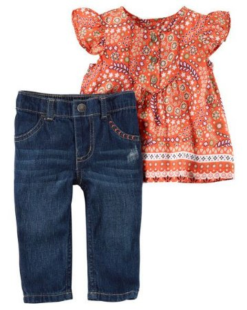 Conjunto Jeans Carter´s  12 meses