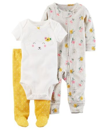 Kit Sleep&Play Carter´s   Flowers   6 meses
