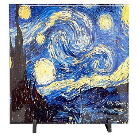 Azulejo Personalizado com Foto 20 x 20 cm com Suporte de Mesa
