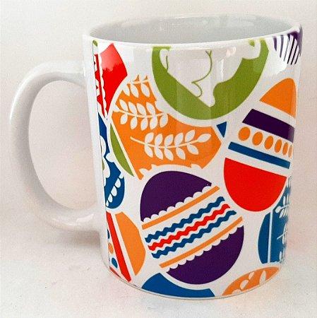 Caneca Personalizada de Pascoa de Ceramica 325 ml