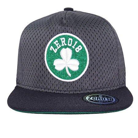 Boné  Zero18 Snapback Celtics Chumbo