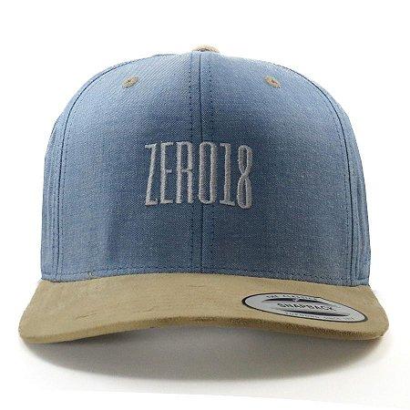 Boné  Zero18 Snapback Aba Curva Zero18 Flexfit