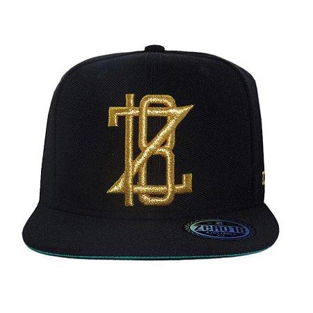 Boné  Zero18 Snapback Z18 Black/Gold