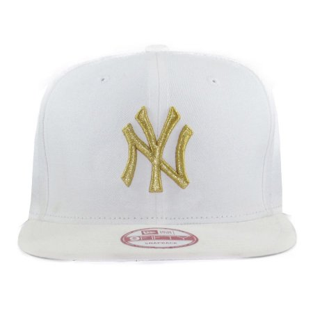 Boné New Era 9Fifty Snapback New York Yankees White Gold