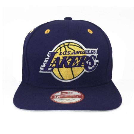 Boné New Era 950 Snapback Los Angeles Lakers Roxo