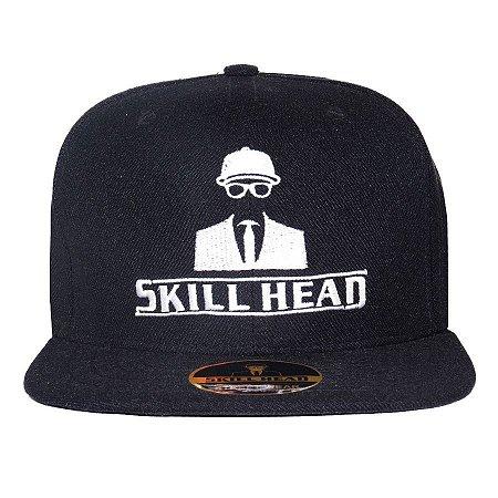 Boné Skill Head Snapback Logo Black