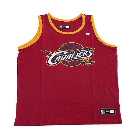 Camistea Regata New Era Basic Logo Cleveland Cavaliers Vinho