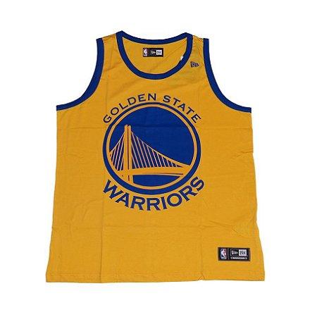 Camiseta Regata New Era Basic Logo Golden State Warriors - AMARELO