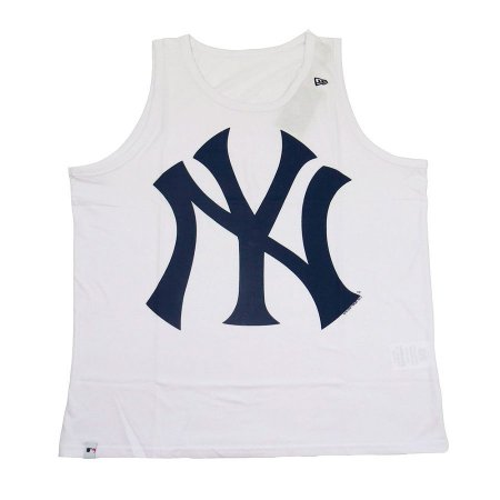Camiseta Regata New Era New York Yankees MLB Branco Marinho