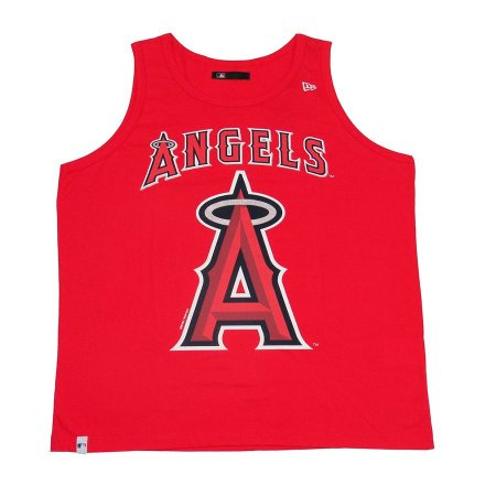Camiseta New Era Regata MLB Los Angeles Angels Vermelha