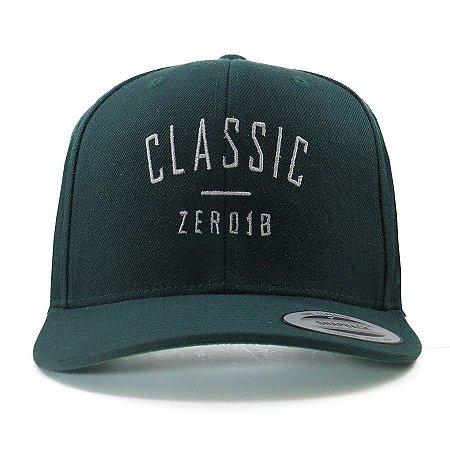 Boné Snapback Zero 18 Aba Curva Classic Verde Flexfit