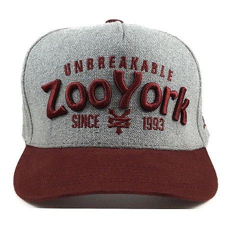 Boné Zoo York Aba Curva Type Cinza