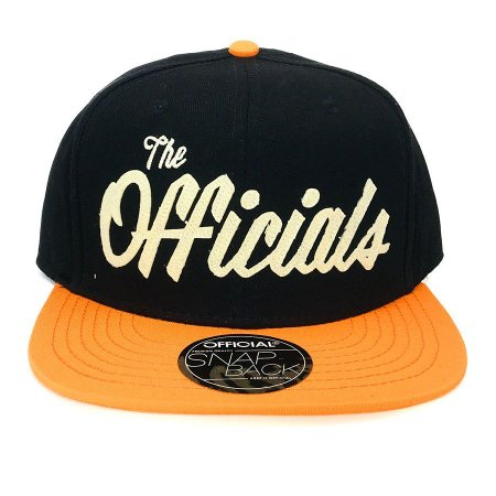 Boné Official Snapback The Officials Laranja/Preto
