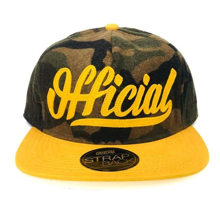 Boné Official Strapback Woooly Camo